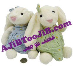 خرگوش جلی کت دختر لباس گلی کوچک