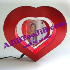 قاب عکس معلق در هوا (مدل قلب)