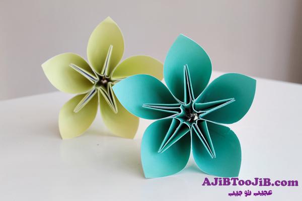 ساخت کاردستی گل کاغذی