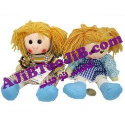 عروسک دخترهای خندان موبافته