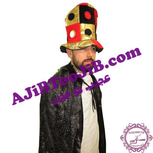 کلاه بلند دلقک چهارخانه