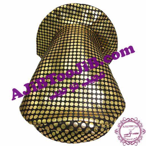 Golden clown hat