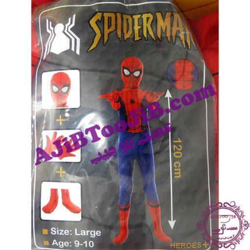 لباس مرد عنکبوتی ابرقهرمان با ست کامل و عضله ای